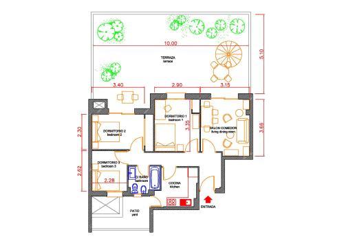 The floor plan of ADORABLE Y SILENCIOSO-AIRE ACOND-EST. ATOCHA