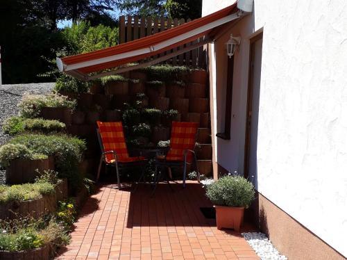 Вътрешен двор или друго открито пространство в Komfort Ferienwohnung