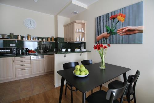 Kuchyň nebo kuchyňský kout v ubytování Soul Dance Apartments