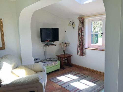 A television and/or entertainment center at Hare Cottage