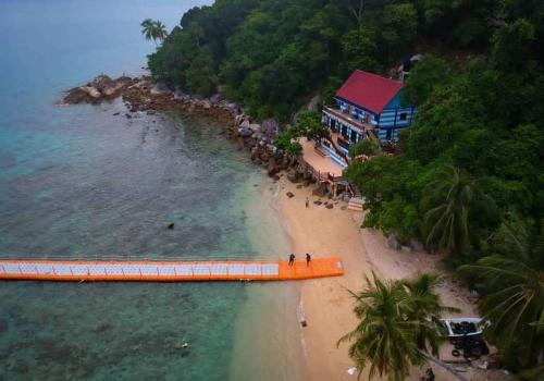 A bird's-eye view of Perhentian Nemo Chalet