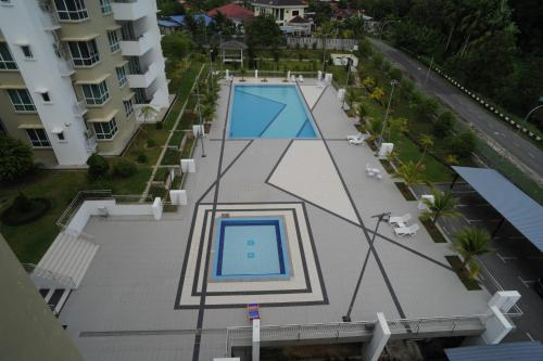A view of the pool at Kein Eco Homestay Miri or nearby