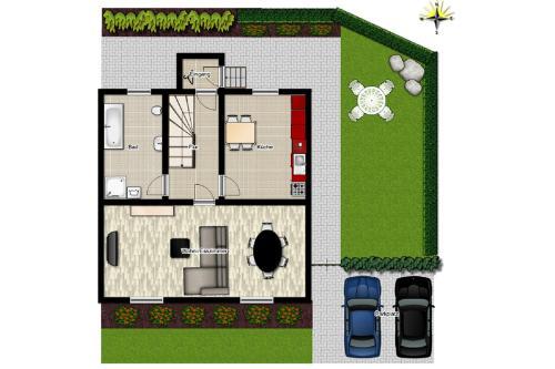 The floor plan of Ferienhaus Halbritter Pouch