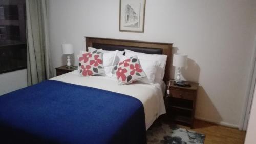 Cama o camas de una habitación en Decher Apartment - Santiago Centro