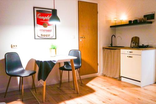 Köök või kööginurk majutusasutuses Uue Maailma Apartment