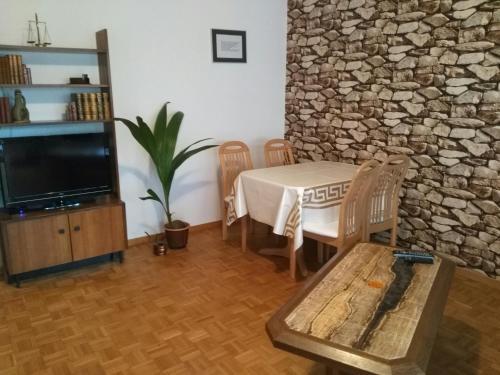 Ein Sitzbereich in der Unterkunft Calm Family Apartment