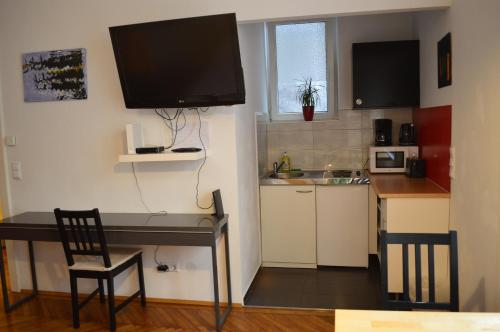 A television and/or entertainment center at Central inner courtyard apartment