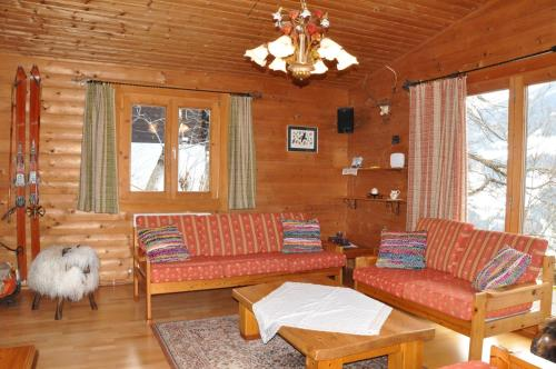 A seating area at Chalet Edelweiss