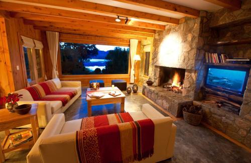 Un lugar para sentarse en Casas Costa Lolog Huelcan