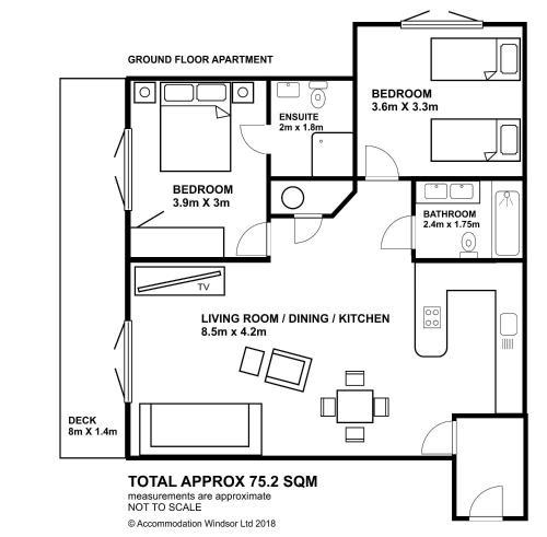 The floor plan of Littleacre Apartment 4