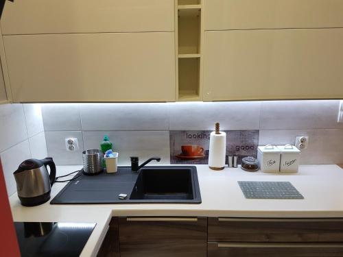 A kitchen or kitchenette at A.G - Apartamenty Warsaw Center