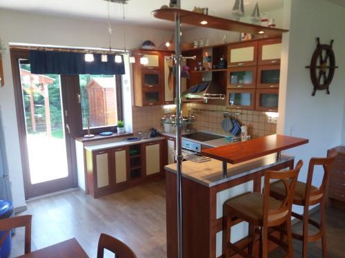 Kuchyň nebo kuchyňský kout v ubytování Residence Mahrina