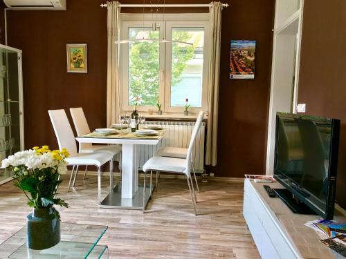 Телевизор и/или развлекательный центр в Apartments Terme Ptuj