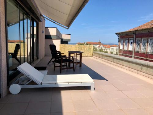 A balcony or terrace at Rooftop studio in the city center