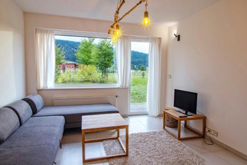 Area soggiorno di Horský Apartmán Klínovec Meadows I 3kk