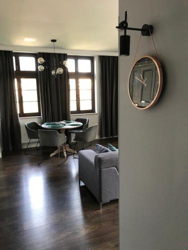 Zona de estar de Apartament Nad Jeziorem Dlugim