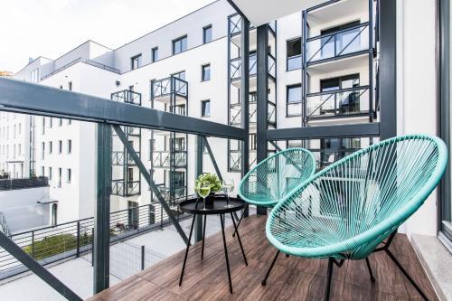 Balkon lub taras w obiekcie Modern & Classy Industrial - Apartamenty Browar Gdańsk