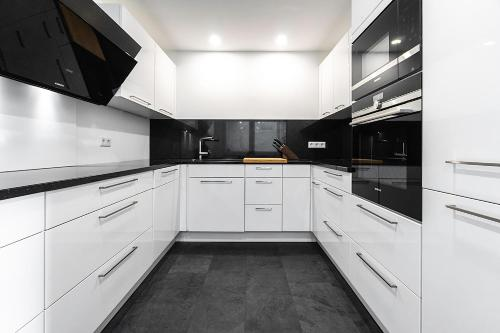 Küche/Küchenzeile in der Unterkunft PMC Business Apartments
