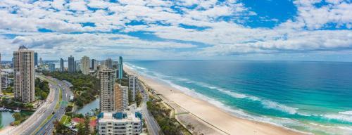 A bird's-eye view of Spectacular Beachfront Ocean Views