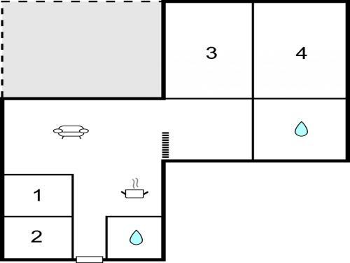 The floor plan of Holiday home Plantagevej IIA