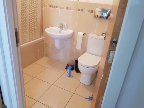 Vonios kambarys apgyvendinimo įstaigoje Modern Penthouse Apartment