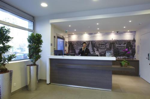 Hall ou réception de l'établissement Citadines Maine Montparnasse Paris