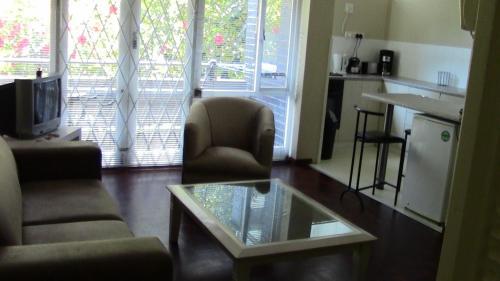 Coin salon dans l'établissement St Martini Studio apartment