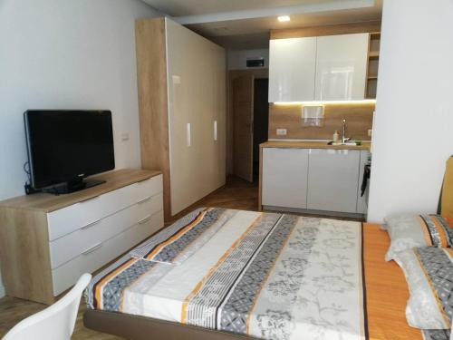 A television and/or entertainment center at Diamond Apartment