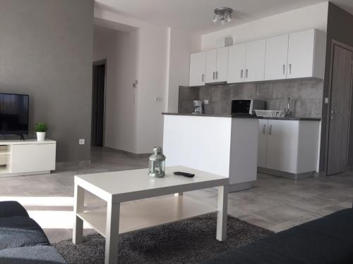A kitchen or kitchenette at Airport Premium Apartments