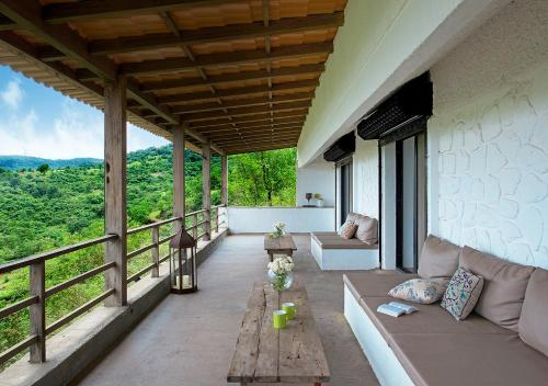 A balcony or terrace at Bungalow 89