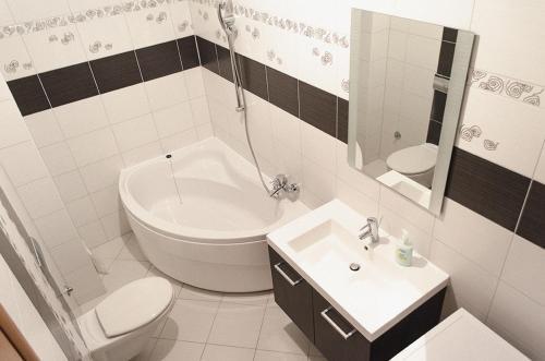 Koupelna v ubytování Mars