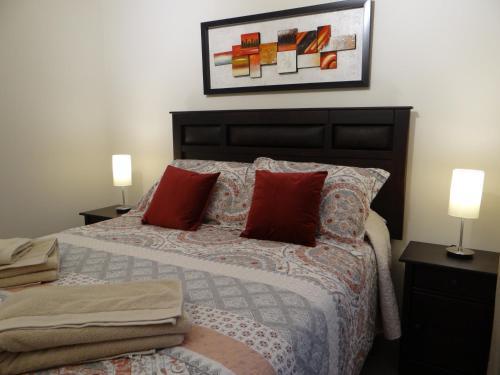 Cama o camas de una habitación en Nuevo departamento en el corazón de Santiago