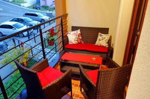 A seating area at Stella Apartments