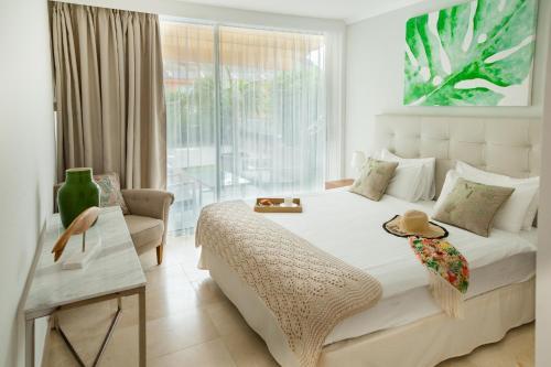 Een bed of bedden in een kamer bij Elle Ocean Villa Gran Canaria