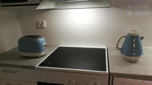 Majoituspaikan RovaVisit Apartments Siljo keittiö tai keittotila