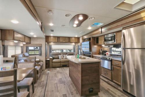 A restaurant or other place to eat at Sunshine Key King Travel Trailer 8