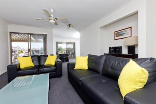 A seating area at LAKE HOUSE ON ELOUERA