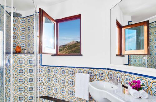 Baðherbergi á Villa Chez Piè