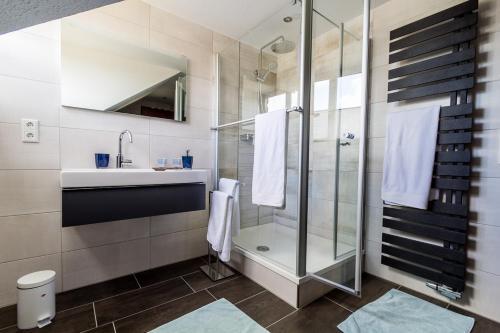 Koupelna v ubytování Ferienwohnung Konrad Duden