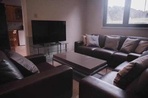 A seating area at Townhouse on the Spital