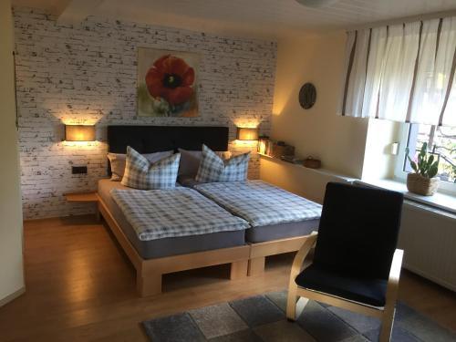 Ein Bett oder Betten in einem Zimmer der Unterkunft Partzsch Apartment
