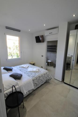 سرير أو أسرّة في غرفة في La stadera B&B