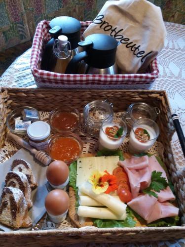 Frühstücksoptionen für Gäste der Unterkunft Schweiggerhof
