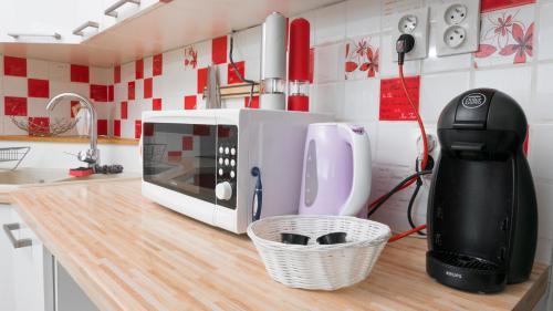 Príslušenstvo na prípravu kávy alebo čaju v ubytovaní Apartman č.61