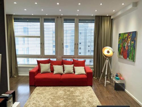 A seating area at Parkapartments - Berlin 1