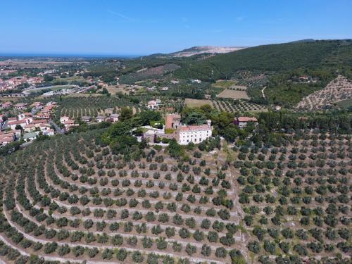 A bird's-eye view of Campiglia Marittima Chateau Sleeps 20 Pool Air Con