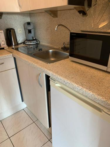 Küche/Küchenzeile in der Unterkunft Studio Mare Nostrum