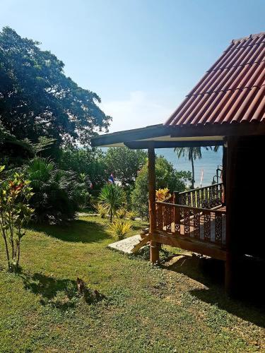 A garden outside Koh Jum Coral Bay Resort