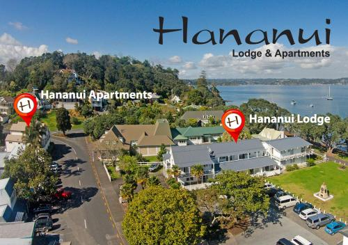 A bird's-eye view of Hananui Lodge and Apartments
