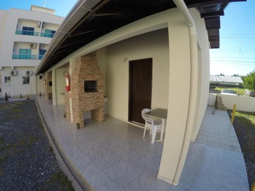A balcony or terrace at Recanto do Sossego Residence